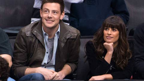 Cory Monteigh and Lea Michele