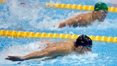 Swimming – men's 100-meter butterfly