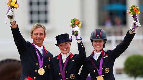 Equestrian – team dressage grand prix special