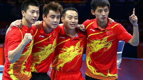 Table tennis -- men's team