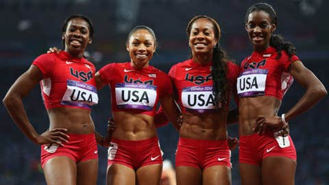 Women's 4-by-400-meter relay final
