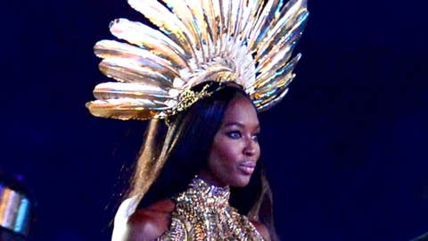 Supermodels on the runway during the Closing Ceremony for the London 2012 Olympic Games