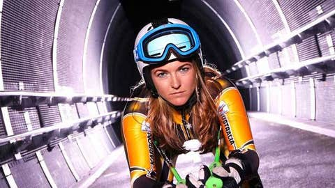 Australian alpine ski racer Lavinia Chrystal poses during a portrait session