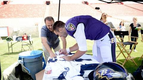 Joe Flacco autographs jerseys