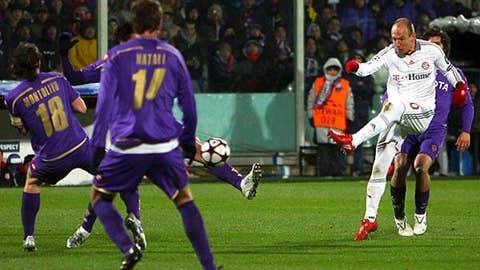 Robben's strike stuns Fiorentina