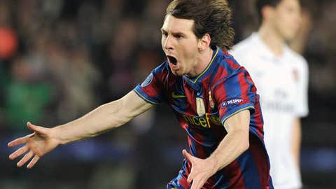 Striker: Lionel Messi, Barcelona