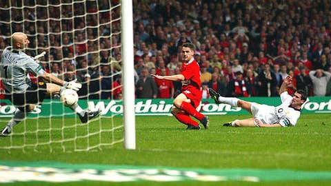 March 2, 2003 at Cardiff, League Cup Final won by Liverpool 2-0