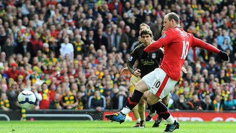 March 21, 2010 at Old Trafford, Manchester wins 2-1
