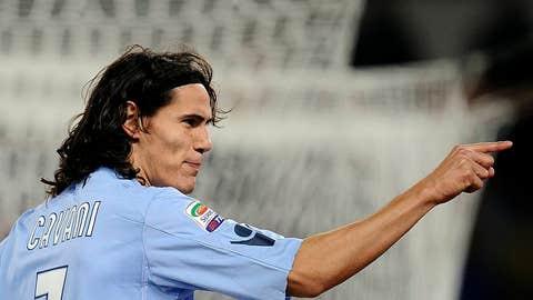 Napoli's Uruguayan forward Edinson Cavan
