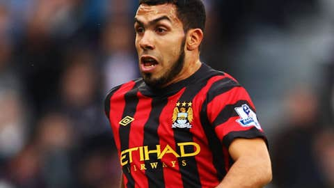 Carlos Tevez, F, Manchester City