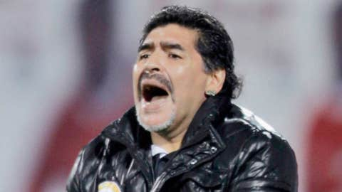 Argentinean Diego Maradona, coach of the United Arab Emirates