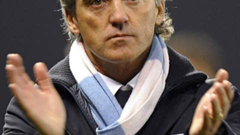 Roberto Mancini, manager, Manchester City