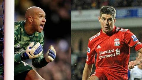 Steven Gerrard & Tim Howard
