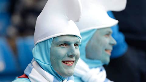 Smurfs invade Manchester