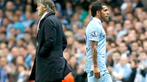 Carlos Tevez refuses to take the field