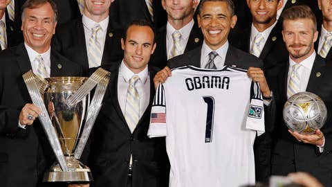 Obama Welcomes MLS Champions LA Galaxy To The White House