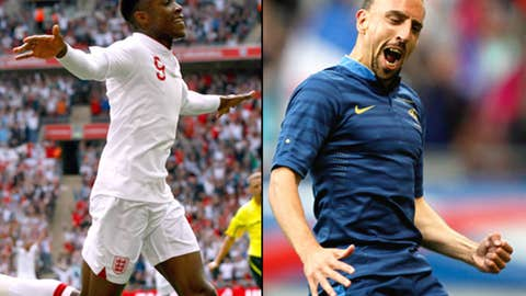England vs. France, June 11 in Donetsk, Ukraine