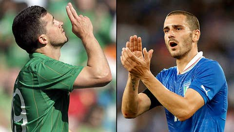 Italy vs. Republic of Ireland, June 18 in Poznan, Poland