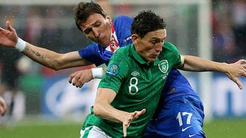 Ireland's Keith Andrews, Crotaia's Mario Mandzukic