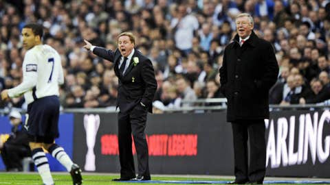 Sir Alex Ferguson (R) - Manchester United Manager and Harry Redknapp