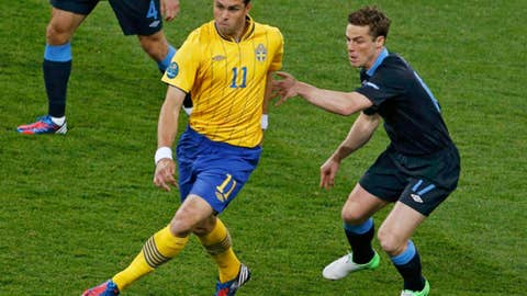 Sweden's Johan Elmander