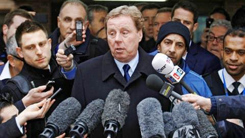 Harry Redknapp speaks to members of the media