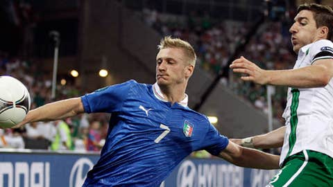 Ignazio Abate & Stephen Ward (AP Photo/Sergey Ponomarev)