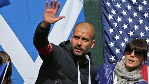 Pep Guardiola, manager, unemployed