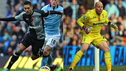 F Clint Dempsey, GK Brad Friedel, Tottenham