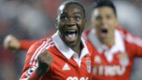 Benfica's Ola John celebrates after scoring a goal