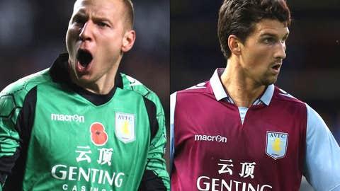 Brad Guzan, Eric Lichaj, Aston Villa