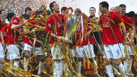 Winning the Champions League with Manchester United, 2008