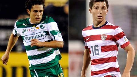 Herculez Gomez, Santos Laguna; Jose Torres, Tigres
