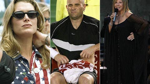 Andre Agassi: Brooke Shields and Barbra Streisand