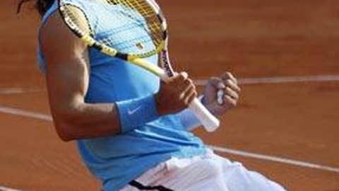 2008: Hamburg final (Nadal wins 7-5, 6-7 (3), 6-3)