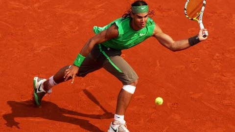 2008: French Open final (Nadal wins 6-1, 6-3, 6-0)