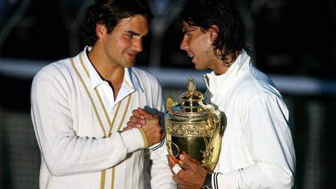 2008: Wimbledon final (Nadal wins 6-4, 6-4, 6-7 (5), 6-7 (8), 9-7)