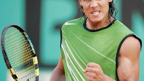 2005: French Open semis (Nadal wins 6-3, 4-6, 6-4, 6-3)