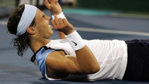 2006: Dubai final (Nadal wins 2-6, 6-4, 6-4)