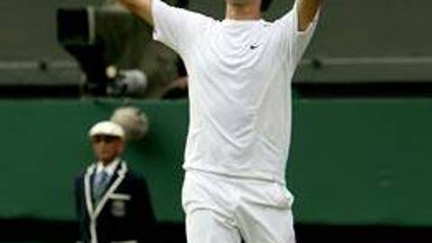 2006: Wimbledon final (Federer wins 6-0, 7-6 (5), 6-7 (2), 6-3)