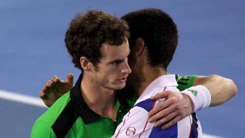 Andy Murray & Novak Djokovic (Photo by Scott Barbour/Getty Images)