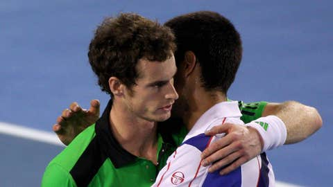 Andy Murray & Novak Djokovic (Photo by Scott Barbour/Getty Images)