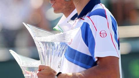 2011: Miami final (Djokovic wins 4-6, 6-3, 7-6(4))