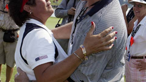 Nancy Lopez and Ray Knight