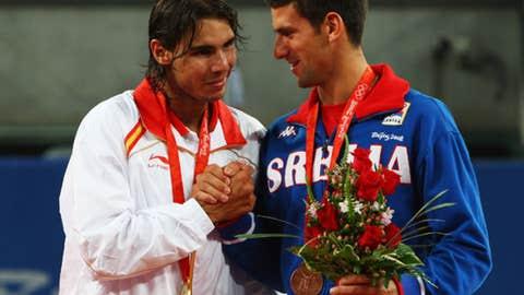 2008 Beijing Olympics semifinal (Nadal wins 6-4, 1-6, 6-4)