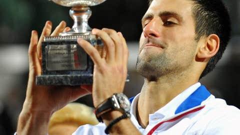 2011: Rome final (Djokovic wins 6-4, 6-4)
