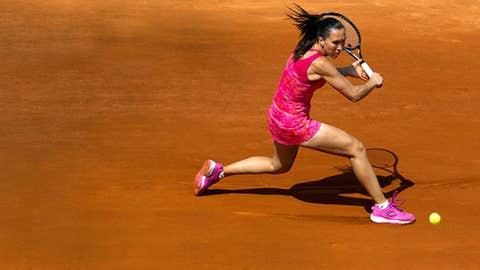 Jelena Jankovic (SRB) during her match against Alona Bondarenko (UKR) on day one of the 2011 French Open