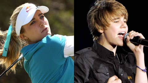 Lexi Thompson and Justin Bieber