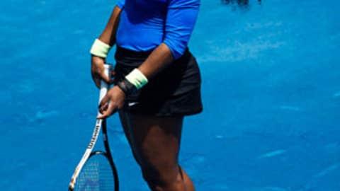 Serena smiles