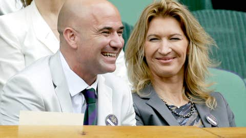 Steffi Graf and Andre Agassi (married)